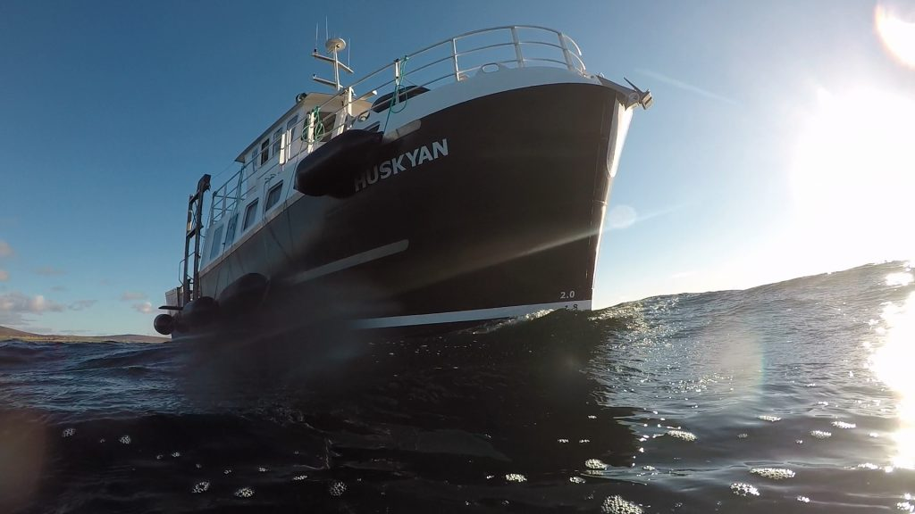 Purpose built dive boat MV Huskyan